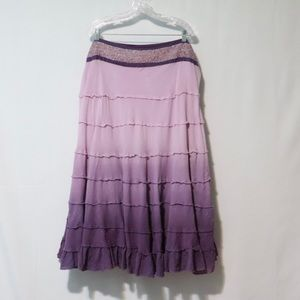 Lane Bryant purple ombré dyed midi skirt 22